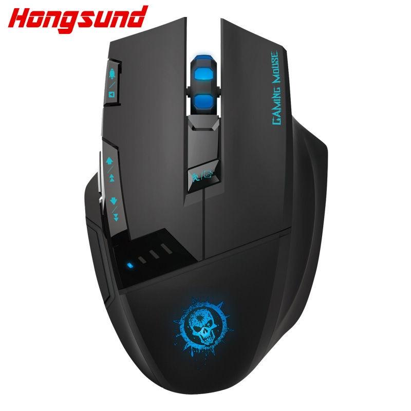 Hongsund C50 ratón inalámbrico computadora de escritorio, ratón para juegos Internet llevó CF 7d USB mouse profesional