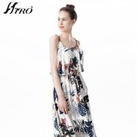 2017 HIRO Summer Dresses Boho Sexy Max Dress Women Floral Print Vintage Chiffon Vestidos De Fiesta