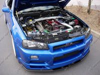 Car Accessories FRP Fiber Glass GD Style Cooling Panel Fit For 1999 2002 Skyline R34 GTR Cooling Slam Panel