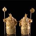 Хмм-ха Второй общий Будда статуя двери боги  братья-хранители резная деревянная фигурка кулон украшение дома Миниатюрный