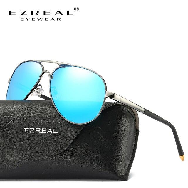 0ac4913007ba5d EZREAL Nouvelle Marque lunettes de Soleil Polarisées Hommes Classique Rétro  Pilote Lunettes Couleur Polaroid Lentilles Conduite