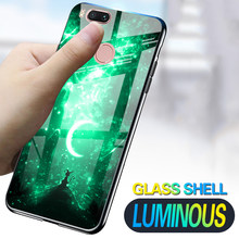 Luminous Phone Cases For XiaoMi Mi 5 5S Plus 5X 6X A1 A2 Space Night Shine Glass Case For Xiaomi Mi Note 3 Cover Shell(China)