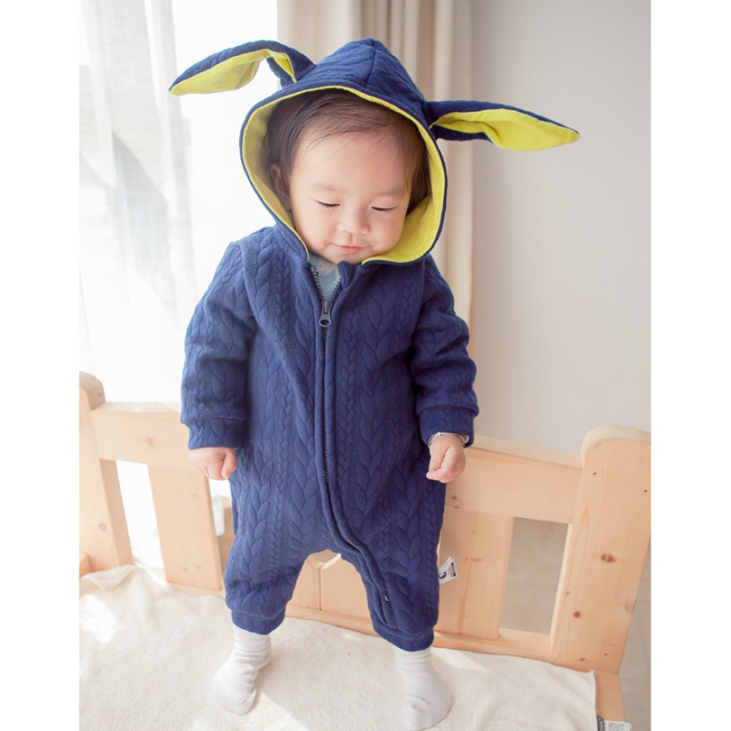 Boy Gril 100%Cotton Infant Jumpsuit Romper Newborn Baby Clothes Rabbit Ear Cap Go Out Zipper Rompers Toldder Kids Bobo Bebe newborn baby rompers baby clothing 100% cotton infant jumpsuit ropa bebe long sleeve girl boys rompers costumes baby romper