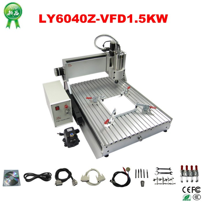 China wholesale mini 3 axis CNC 6040 router machine for aluminium with 1.5KW spindle (2)