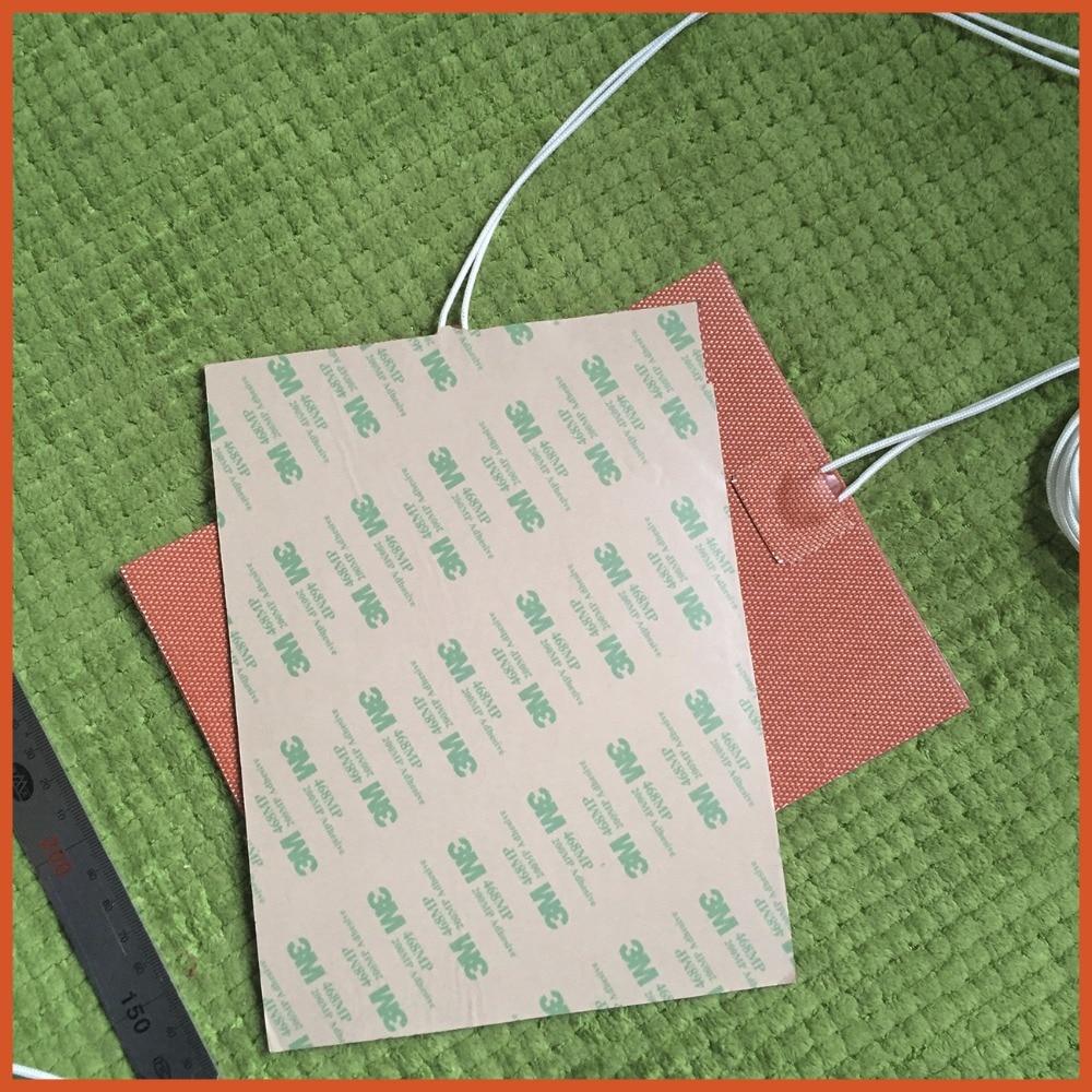 Réchauffeur de coussin de chauffage de Silicone 150mm x 340mm 220 V 400 W pour le lit de chaleur d'imprimante 3d 1 pièces chauffage flexible de silicone de réchauffeur