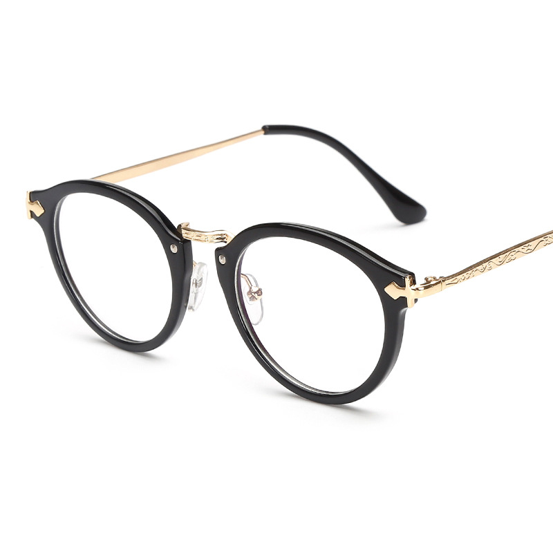 fashion round clear glasses women men transparent optical coating film eyeglasses frame small face decoration eyewear