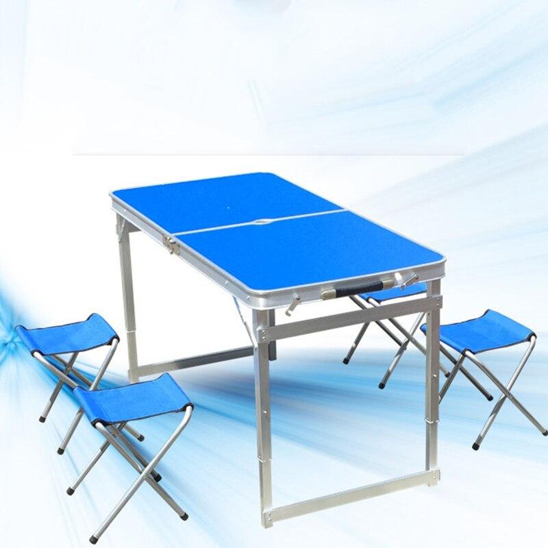 2018 Extérieure Chaise Pliante de Camping En Alliage D'aluminium Table de Pique-Nique Imperméable À L'eau Ultra-léger Durable Table Pliante Bureau Pour
