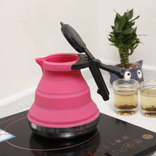 Outdoor Foldable Silicone Water Kettle Tea Boiler Portable Camping Kitchen Suppies