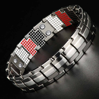 LITTLE FROG Health Magnetic Bracelets Bangles Wide Pure Titanium Hand Chain Link Energy Germanium Bracelet Men Fashion Jewelry