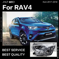 AKD Car Styling Head Lamp for Toyota RAV4 Headlights 2017 2018 Rav4 LED Headlight OEM Design DRL Hid Bi Xenon Auto Accessories