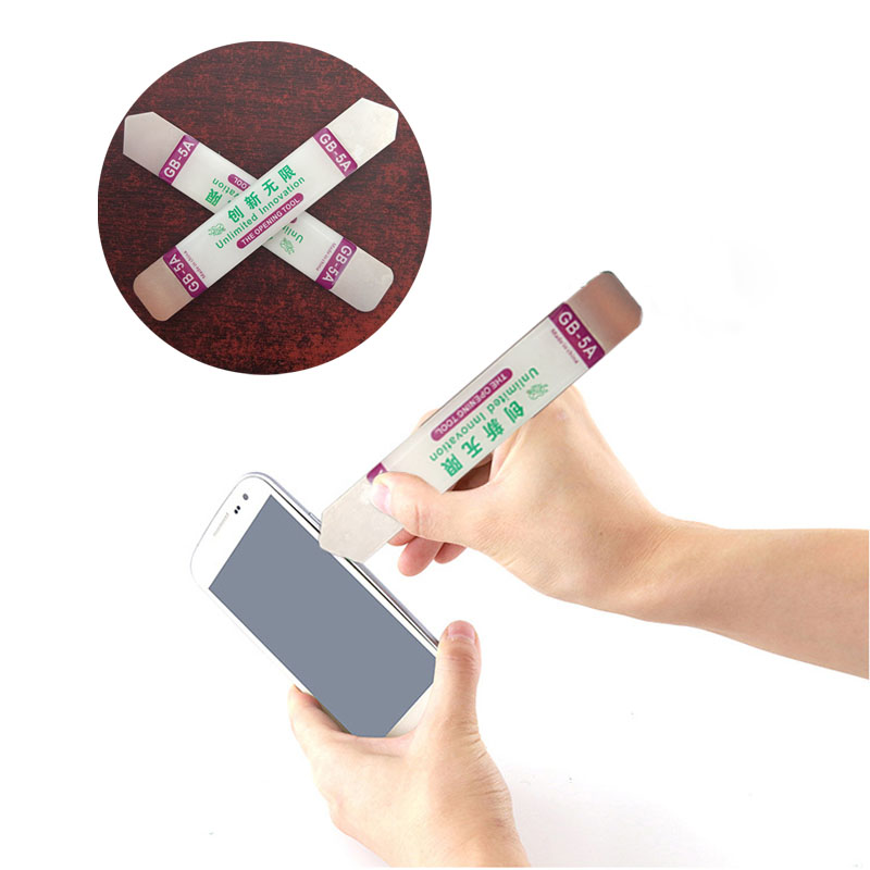 2Pcs/set Metal Flat Spudger Soft Blade Pry Bar Open Repair Tool Kit For Mobile Phone Electronic Broken Screen Glue Removal