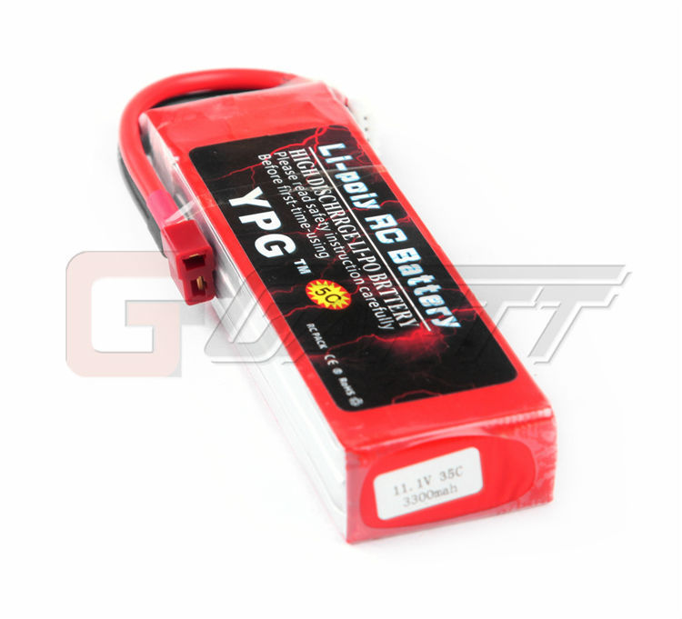 YPG New GRADE A 3300mAh11.1V 35C 3S Lipo Li-Po Battery For RC Helicopter & Airplane & Car