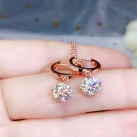 dazzling moissanite earrings with attractive character for women promotion price