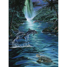 Sea dolphin Embroidery Pattern diamond 5D DIY paintings 3D Cross stitch kits mosaic paintings animal wall stickers decors RS1943(China)