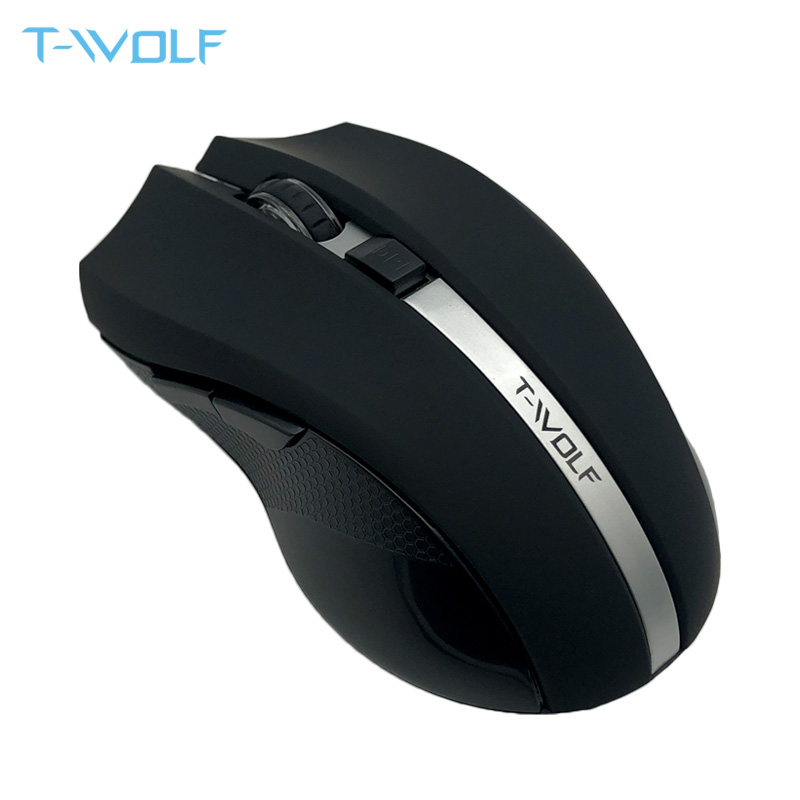 T-WOLF Q5 2,4 GHz Беспроводная Бесшумная компьютерная мышь 1800DPI Регулируемая эргономичная мышь хорошая Беспроводная оптическая компьютерная игро...