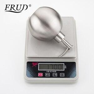Image 5 - FRUD אחת נירוסטה משאבות ידני סבון Dispenser בקבוק של יד Sanitizer מכשיר עגול 500ml אמבטיה HardwareY35012