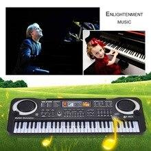 Горячая Распродажа, 61 клавишная цифровая электронная фортепианная клавиатура с микрофоном, музыкальный инструмент, подарок для детей, штепсельная вилка европейского стандарта