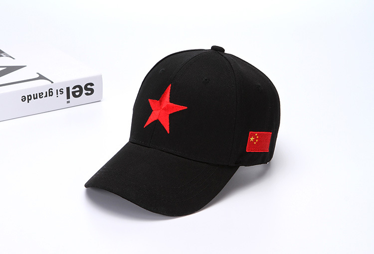 New Summer Cap Five Starred Red Flag Embroidered China Baseball Cap ... 2914193027bb