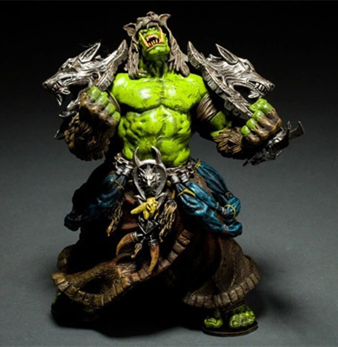 DC Unlimited Series 1 Wow Action Figure 7.75 inch Orc Shaman [Rehgar Earthfury] WOW Character PVC Figure dc wow thrall the orc shamman action figure toys thrall the orc shamman doll pvc acgn figure collectible model toy brinquedos