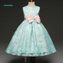 цены на JaneyGao Flower Girl Dresses 2019 New Pageant First Communion Dresses for Little Baby Wedding Party Sleeveless Bow Cheap Price  в интернет-магазинах