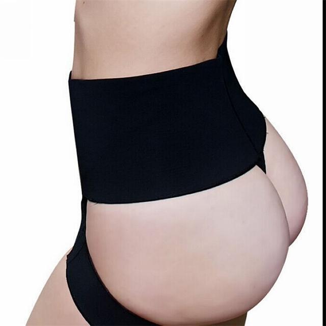 Más el Tamaño de la Talladora Del Extremo de Color Caqui Negro Butt Lifter Con Las Mujeres la Ropa Interior de Control Tummy Delgado Cinturón Botín Levantador de Control Panties