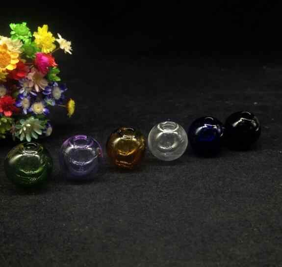 10ピース勒カラーラウンドオーブボール形状ガラスグローブバブルで4ミリメートル穴ガラスバイアルペンダントセットガラスドームカバー瓶結婚ネックレス