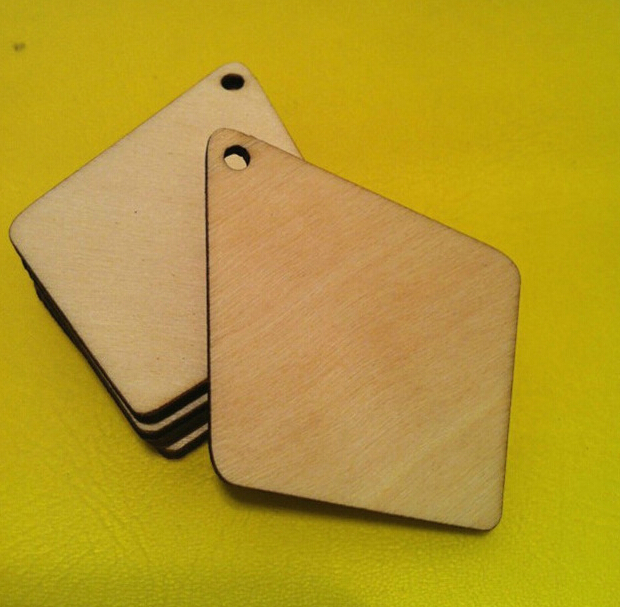 20pieces/lot  wood chip blank charms for jewelry making and craft material (IB1995)