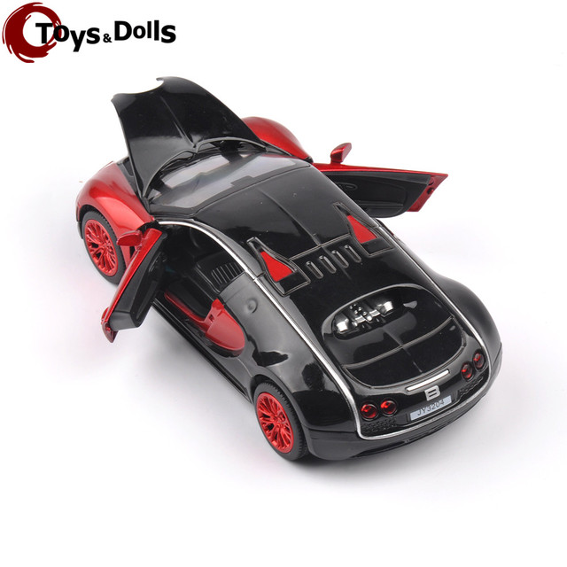 New Collectible Model Cars Bugatti Veyron Model Car 1:32 Alloy Diecast Mini Model Cars New Electronic Car With Light & Sound A