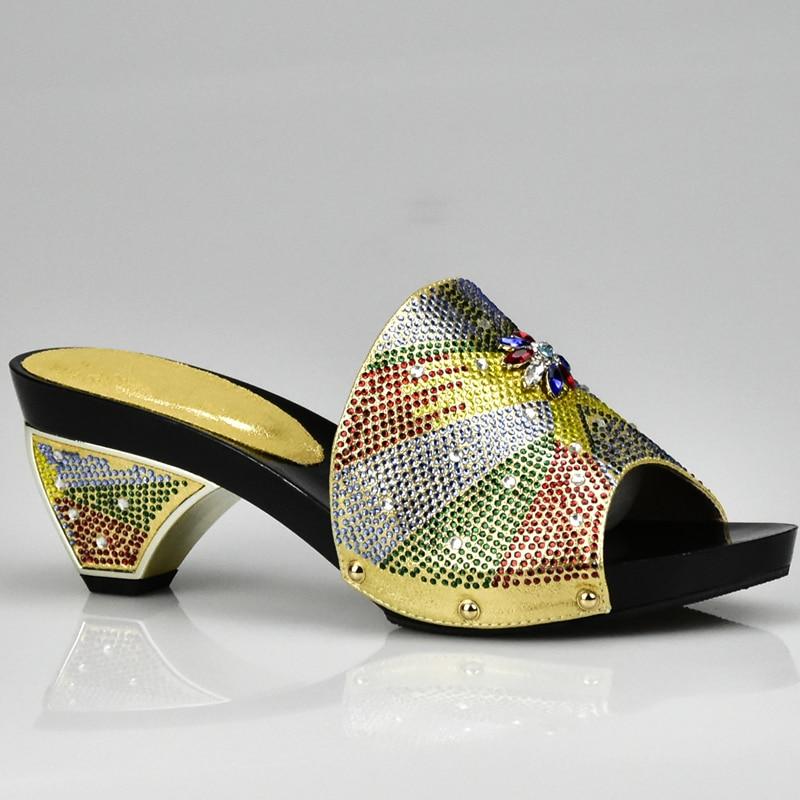 oro Oro 2017 Italia Color azul Bolsa Italian Mujeres Negro Con Y Set Decorado amarillo Matching Rhinestone plata Bolso Zapato En Zapatos naranja fuchsia UUqr0wC