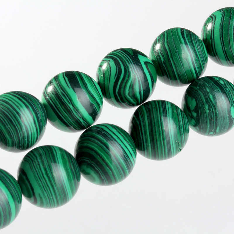 Натуральный Малахит каменные бусины Зеленые Круглые свободные бусины 4 6 8 10 12 14 мм для ювелирных изделий шнур кожаный бисер DIY