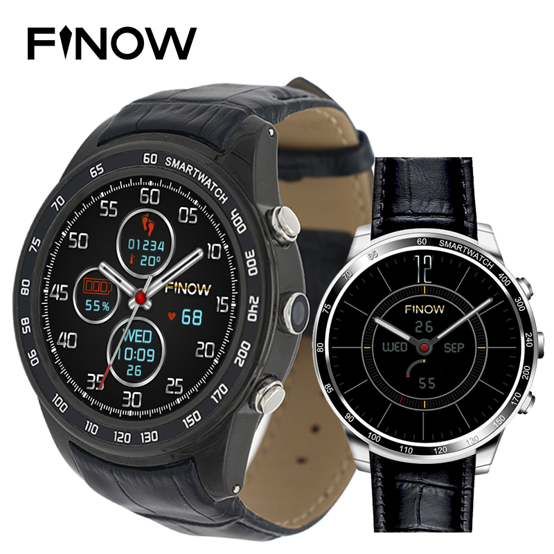 Galleria fotografica Finow Q7 plus smart watch Android 5.1 Quad Core 0.3MP Camera 3G <font><b>Smartwatches</b></font> support 32GB TFcard Wifi BT watch phone for Android