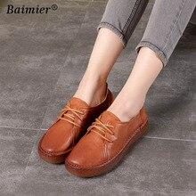 bb5746f82 Novas Mulheres Da Moda Apartamentos Sapatos idosos sapatos de trabalho  planas mulher sapatos primavera outono sapatos