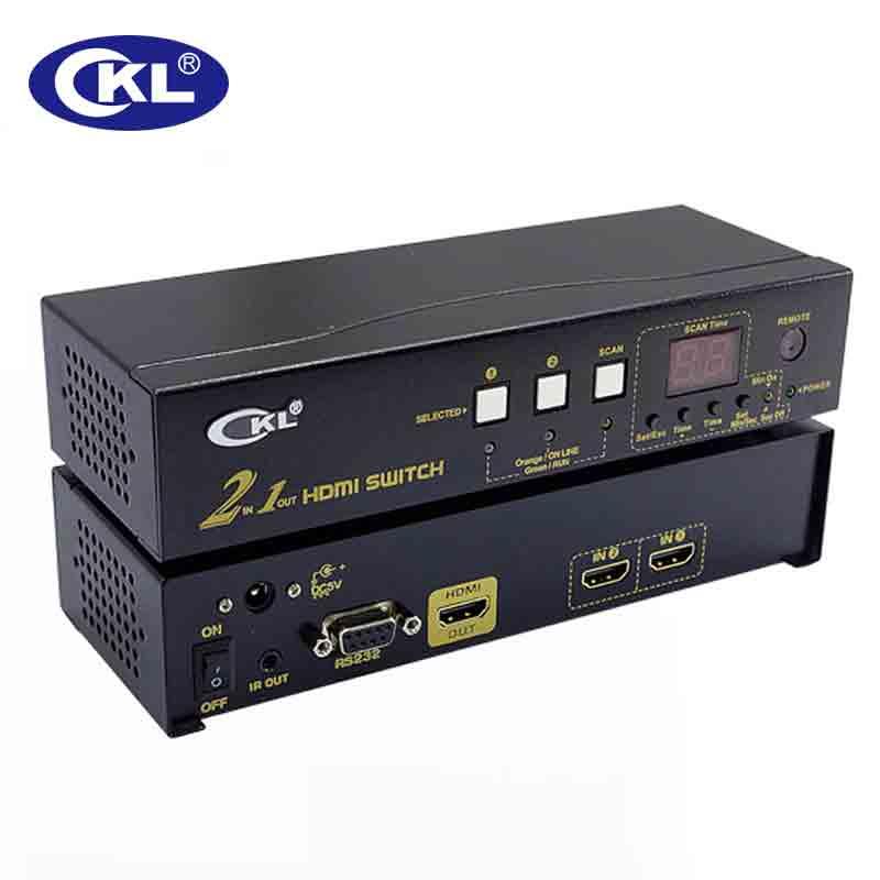 Kvm-switches Computer-peripheriegeräte Sonnig Ckl Auto Hdmi Switch Splitter Adapter 4 Port In 1 Mit Ir-fernbedienung Rs232-steuerung Automatische Erkennung Edid Unterstützung 3d 1080 P Ckl-41h