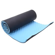 Check Price 1.5CM Thick Yoga Mat Single Outdoor Exercise Sleeping Camping Yoga Mat with Carrying Straps EVP Blue Utility Yoga Mats Fitness