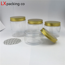 free shipping 50 ml 100 200 250 Plastic Transparent Sugar Bowl Cream Bead Small Jar Makeup Bank For Storage 30 pcs