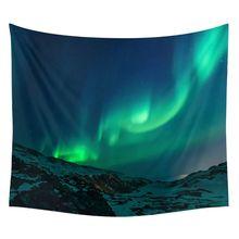 Aurora Borealis гобелен, гобелены, украшения для дома, на открытом воздухе, коврик для пикника, пляжное полотенце, квадратный цветной диван/покрывало для кровати