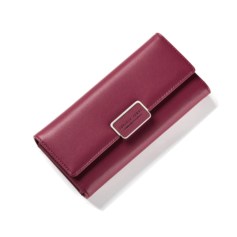 Pu Leather Wallet Women Purse Female Long Clutch Women Wallets Luxury Brand Money Bag Fashion Coin Purse Card Holder Thin Wallet silver stone pattern long clutch wallets women pu leather coin purse brand female card holders wallet elegant ladies evening bag