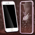 Luxury Rhinestone Silicon Case For iPhone 6 6s / 6 6s Plus Bling Diamond Coque Soft TPU Back Cover Capinha For iPhone7 7plus