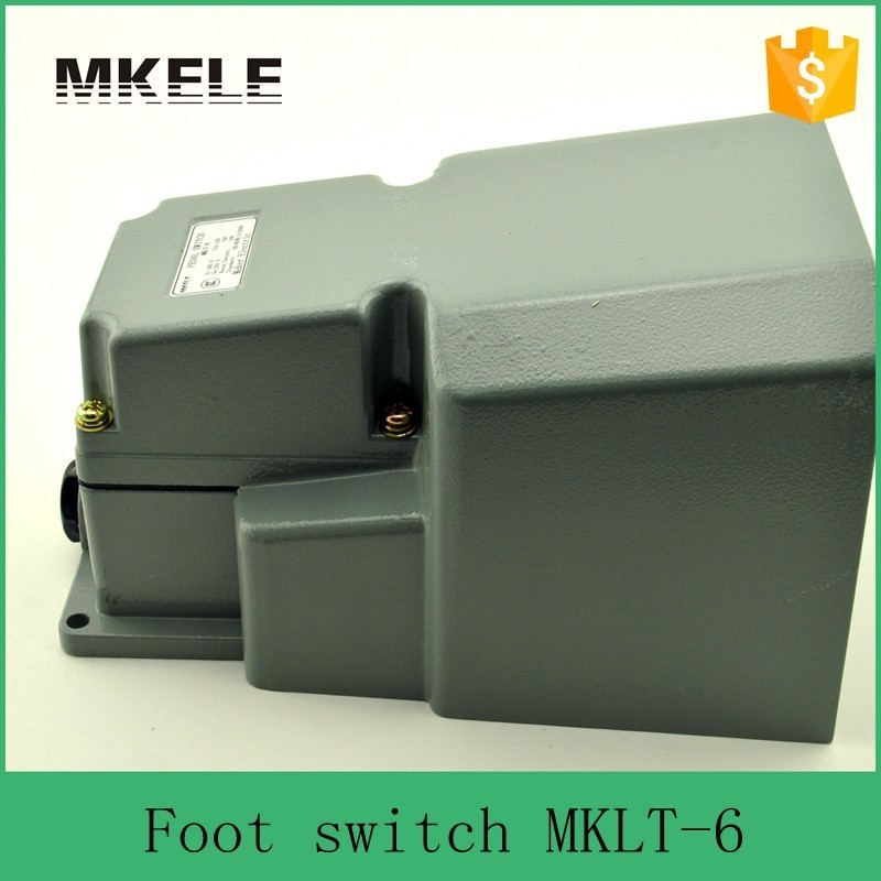 ФОТО MAKERELE MKLT-6 380VAC 250VDC high quality floor light satety electrical foot pedal switch from China manufacturer