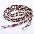 Top Quality 120cm  handbag Silver metal chains for bags PU purse chain straps replacement Handbag hardware accessories