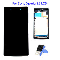 LCD With Frame For Sony Xperia Z2 Screen Display Touch Screen Digitizer Assembly Free Shipping