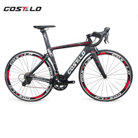 2018 New Costelo Speedcoupe Carbon Fiber Road Bike Complete Bicycle 40mm Wheels 3500 Group With Handlebar
