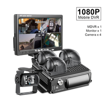 Car Dvr Video-Recorder Car-Monitor Taxi Sd-Truck 4-Camera Waterproof Night-Vision 1080P