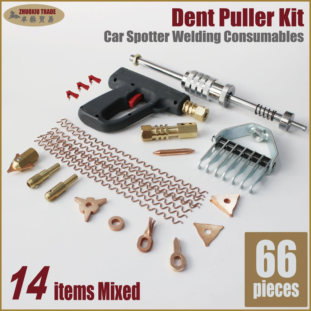 dent puller kit car body dent repair device welder stud weld welding kit dent pulling system autobody spot dent remover dent fix dent puller kit spotter welding machine repair accessories stud gun auto body tools bodywork fix weld pull removal straightening