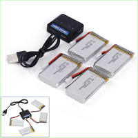 4 In 1 Charger Set With 4pcs 3 7V 1200mAh Lipo Battery For Syma X5SW X5SC