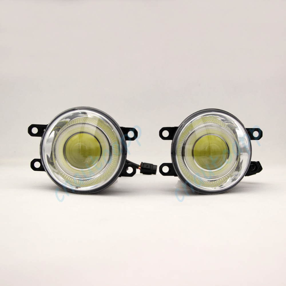 COB Foglight 18W Special LED Fog Lamp Angel Eyes Projector For Toyota Corolla /Prado /Sienna /Camry /Prius /Yaris etc - One Pair brand new superb led cob angel eyes hid lamp projector lens foglights for toyota corolla ex 2013