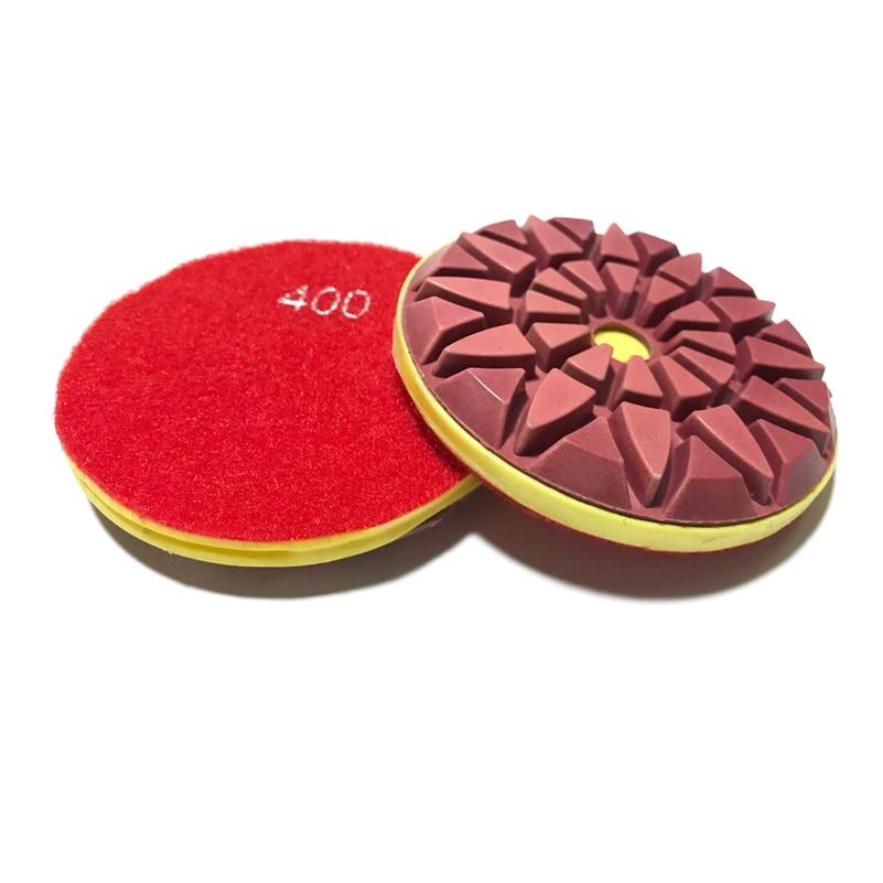 Sunflower Rose-Type 4 Inch 100mm Concrete Polishing Pad Wet/Dry Floor Disc