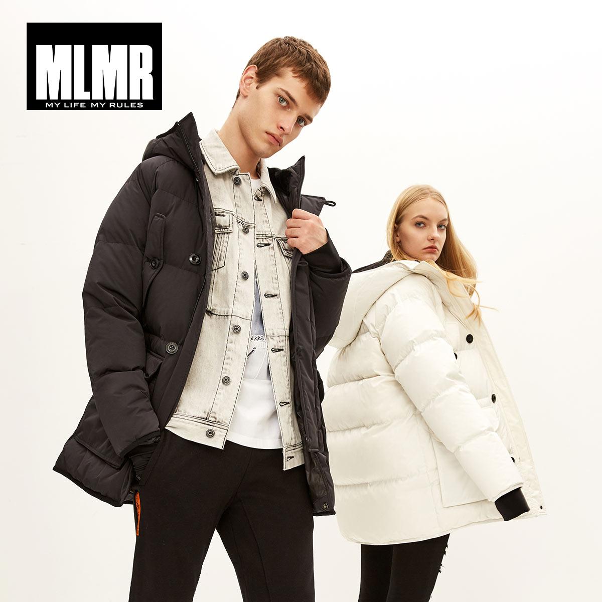 MLMR 2019 ใหม่กลางยาวลงเสื้อฤดูหนาวเสื้อหนา warm parka  218312504-ใน เสื้อกันลม จาก เสื้อผ้าผู้ชาย บน   2