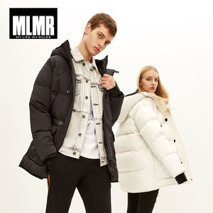 Image 2 - MLMR  mens Hooded mid  long winter coat Thicken warm parka