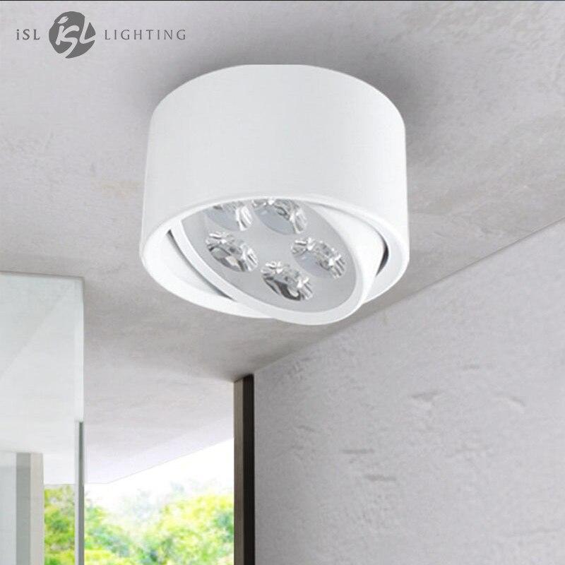 ISL LED Downlight Surface Monté Plafond Lampes Réglable AC85-260V 5 w pour Salon Chambre Cuisine Bureau Commercial
